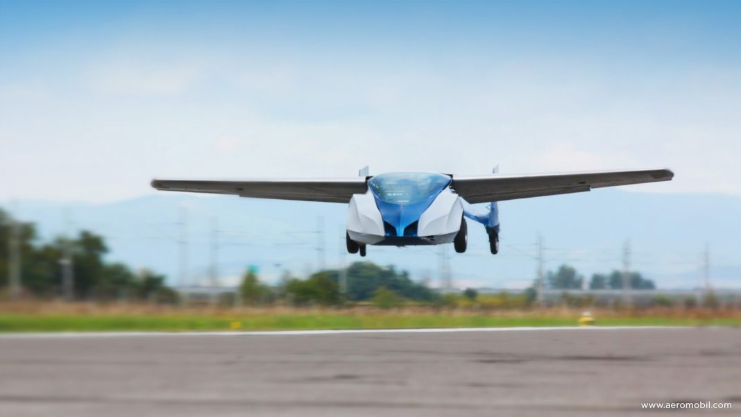 ¿Transito pesado? Olvídate de él con AeroMobil Flying Car