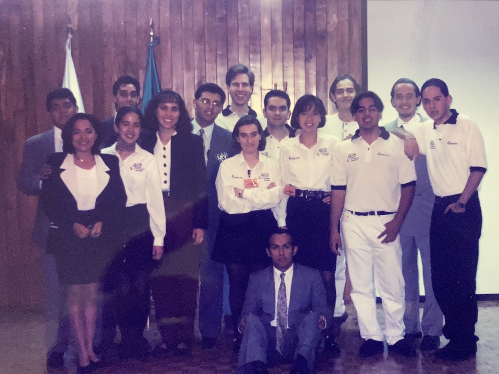 The Tec graduate at an award ceremony during her time as a student. She's in the center. (Photo: Courtesy)