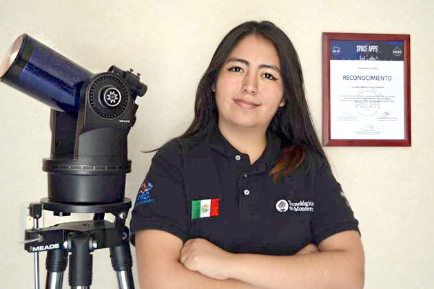 Mexican student who's going to live like an astronaut