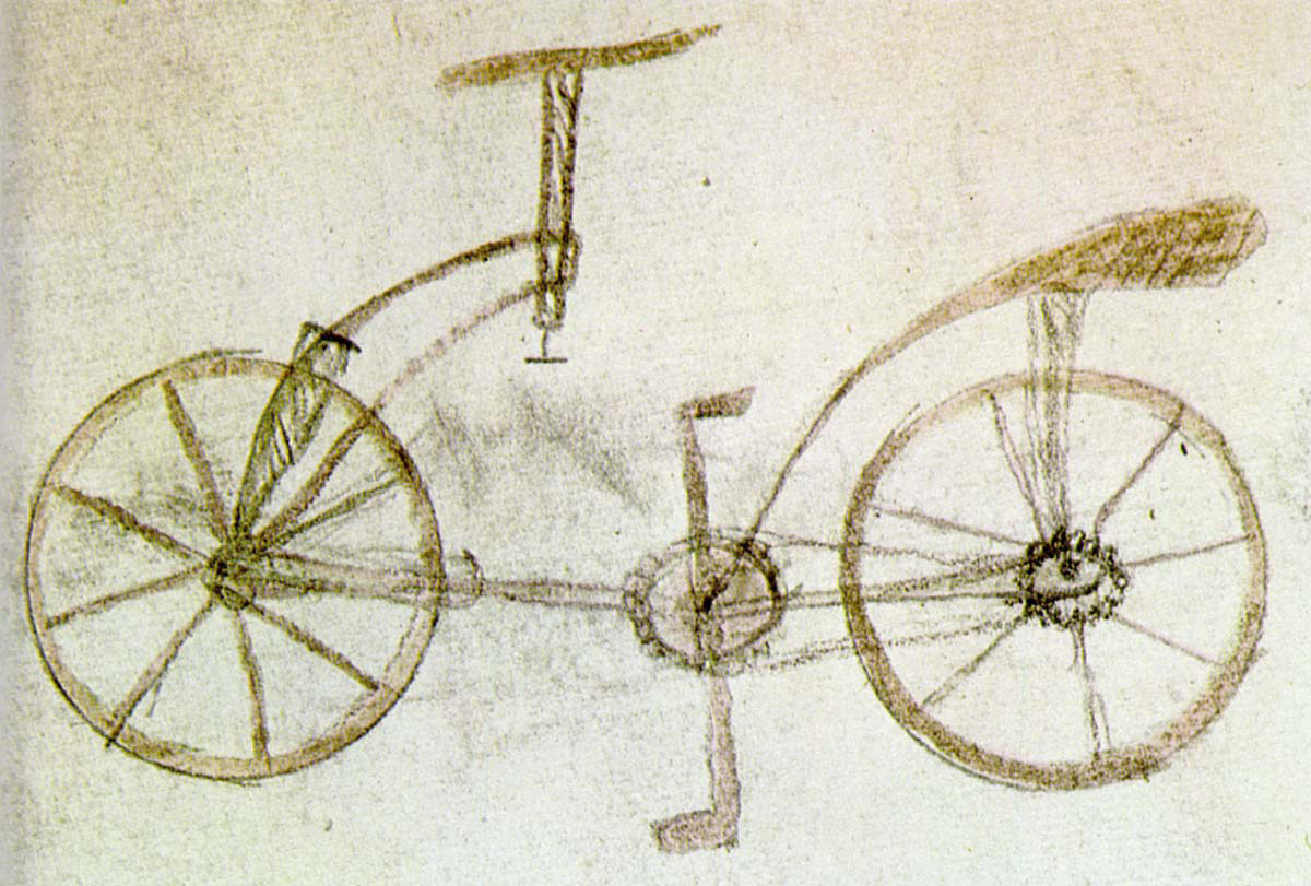 Leonardo-Folio-133v-Bicycle-codex-atlanticus-bike